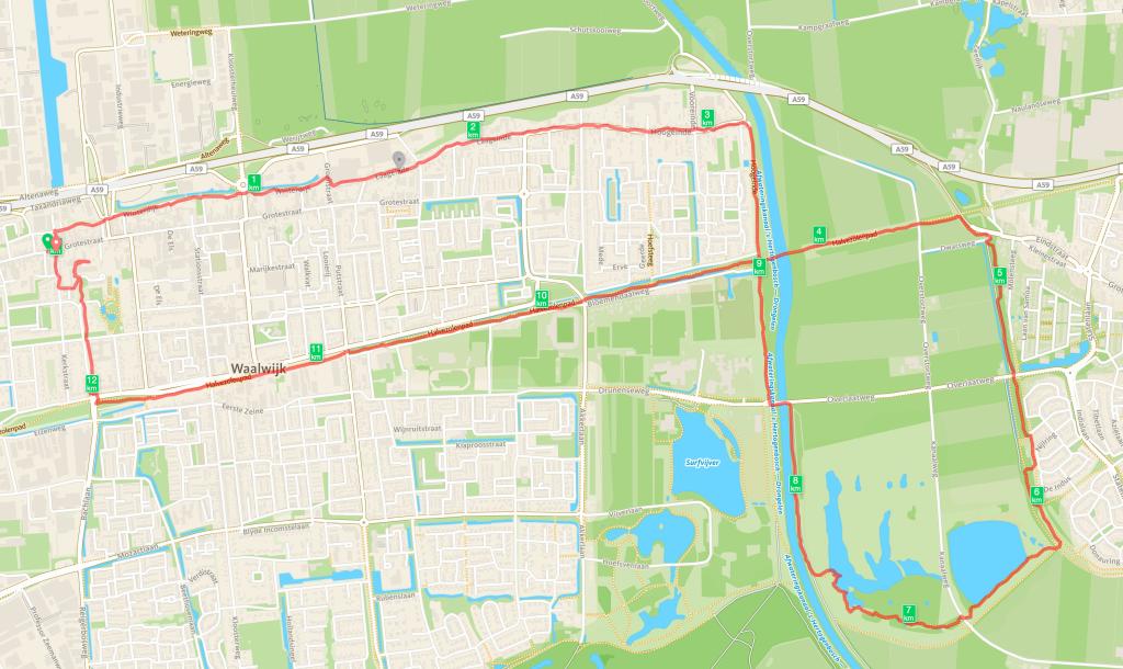 Routekaart Baardwijkse Overlaat