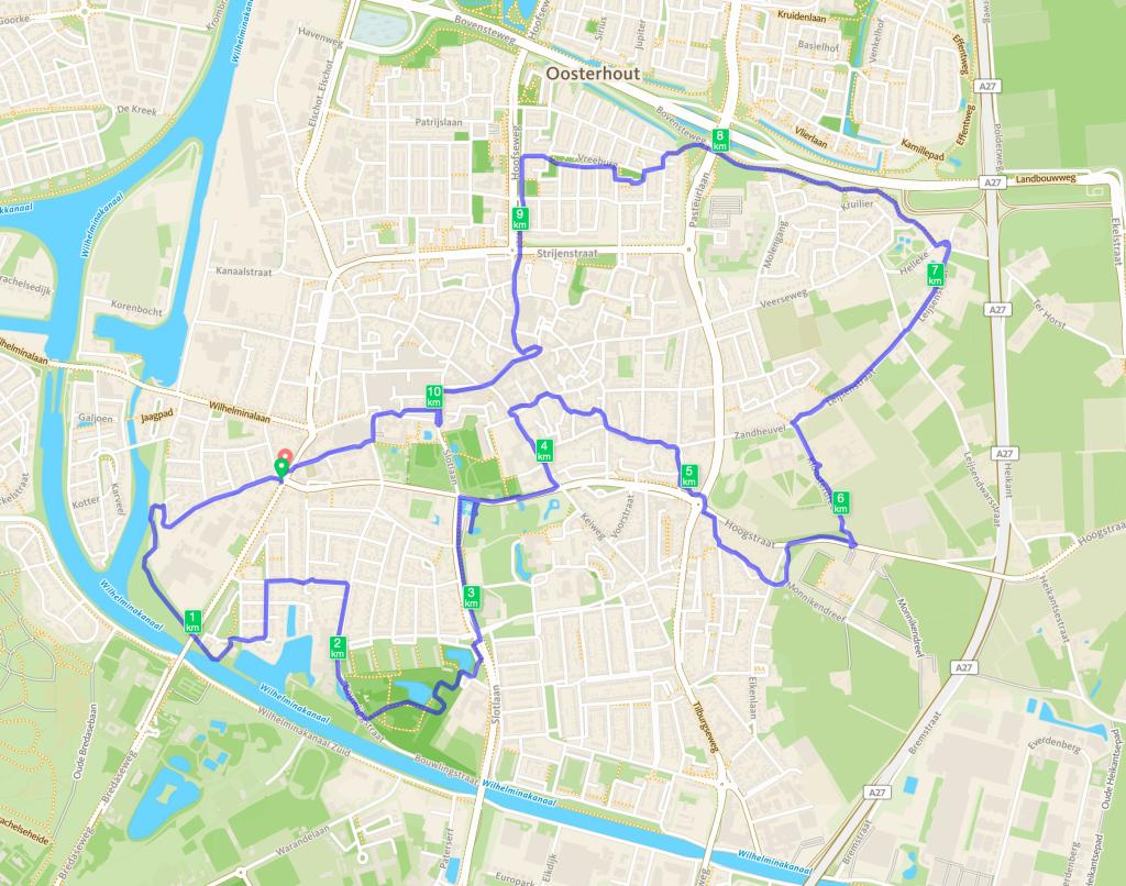 Route Oosterhout